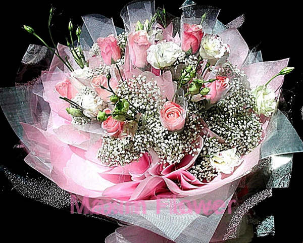 hong kong wrap 12 pink roses as shown $ 119 99